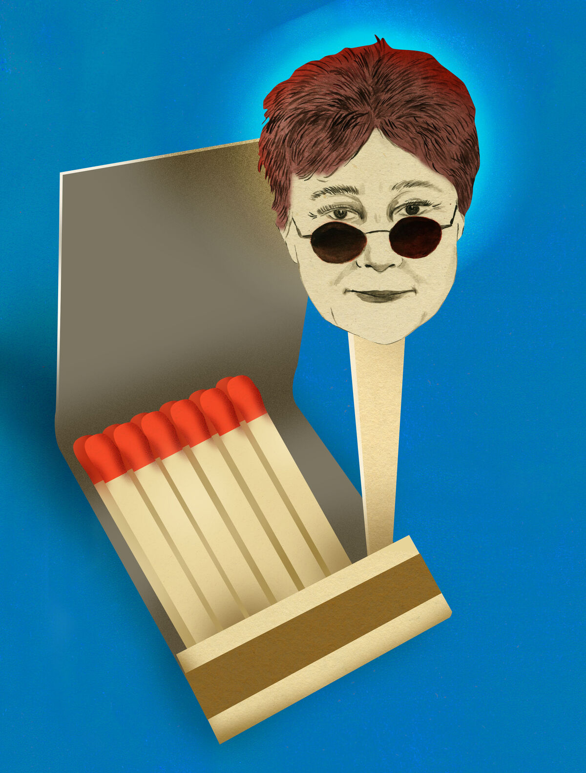 Illustration of Yoko Ono, excerpted from Ellen Weinstein's Recipes for Good Luck, 2018. Published by Chronicle Books.