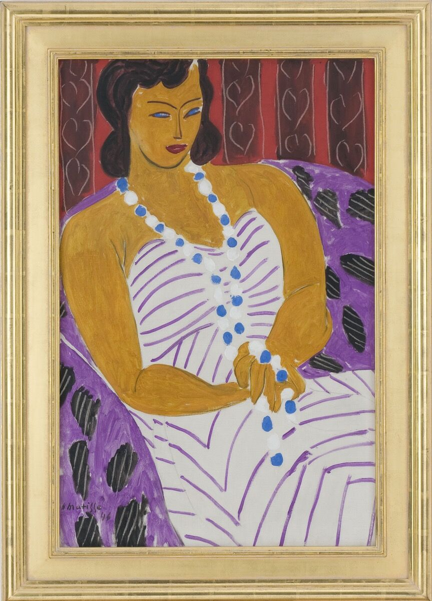 Henri Matisse, Dame à la robe blanche (Woman in white), 1946. © 2017 Succession H. Matisse / Artists Rights Society (ARS), New York. Photo by Rich Sanders.
