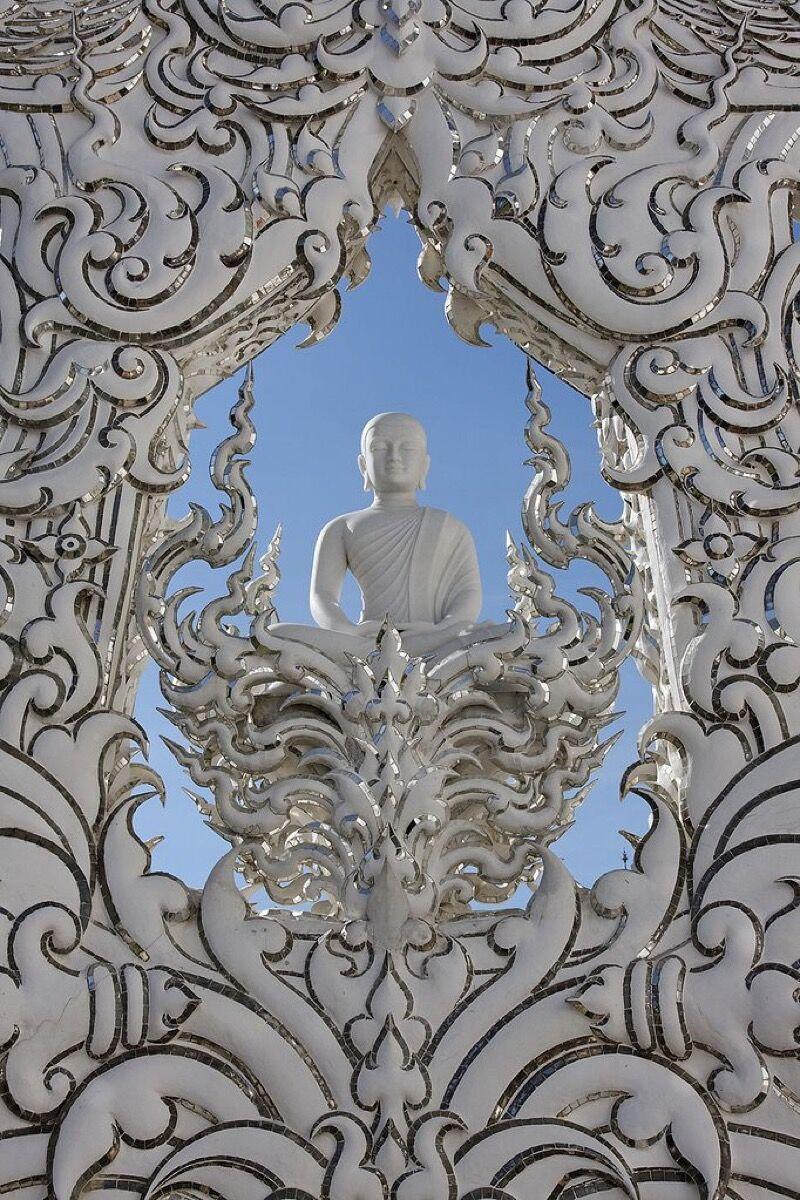 Wat Rong Khun, Chiang Rai, Chiang Rai Province, Thailand. Via Wikimedia Commons.