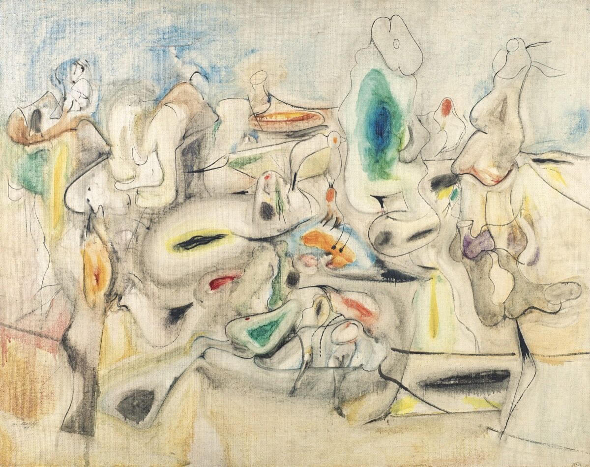 Arshile Gorky, Good Afternoon Mrs. Lincoln, 1944. Courtesy of Christie's.