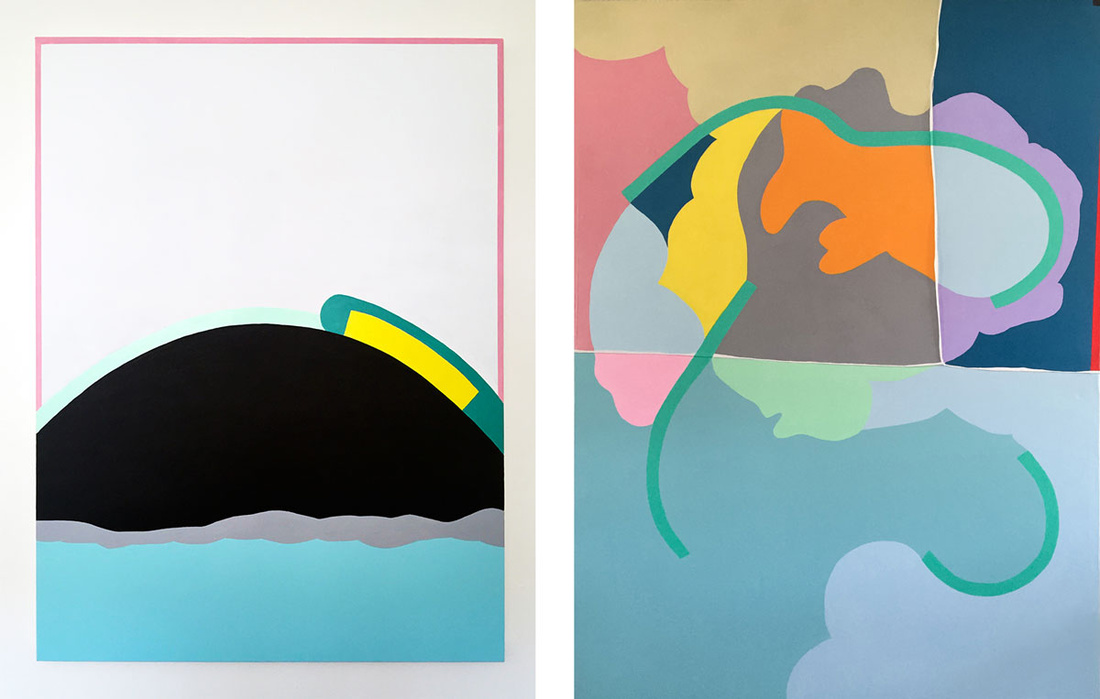 Left: EJ Hill, I Still Believe in Anchors, 2015. Right: EJ Hill, Fish Out of Water (for Dajerria Becton), 2015. Images courtesy of the artist.