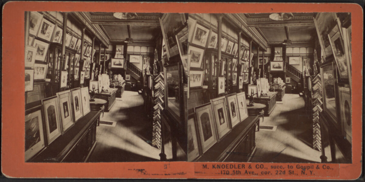 Interior view of M. Knoedler & Co., 1860–1880. Image via Wikimedia Commons.