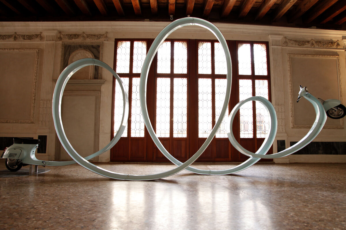 """Eddi Prabandono,After Party/Living the High Life, 2013. Installation view of""""Frontiers Reimagined,"""" Museo di Palazzo Grimani,Venice. Courtesy Sundaram Tagore gallery and the artist."""