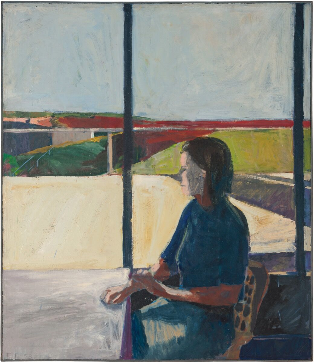 Richard Diebenkorn, Woman in Profile, 1958. © The Richard Diebenkorn Foundation. Photo by Richard Grant. Courtesy of Richard Grant, the Richard Diebenkorn Foundation, and the San Francisco Museum of Art.