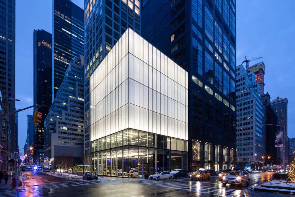 The new Phillips headquarters at 432 Park Ain New York City.