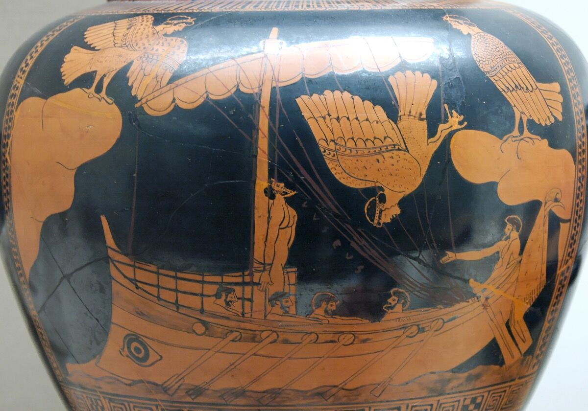 The Siren Vase, circa 480-70 B.C. Photo by cea +, via Flickr.
