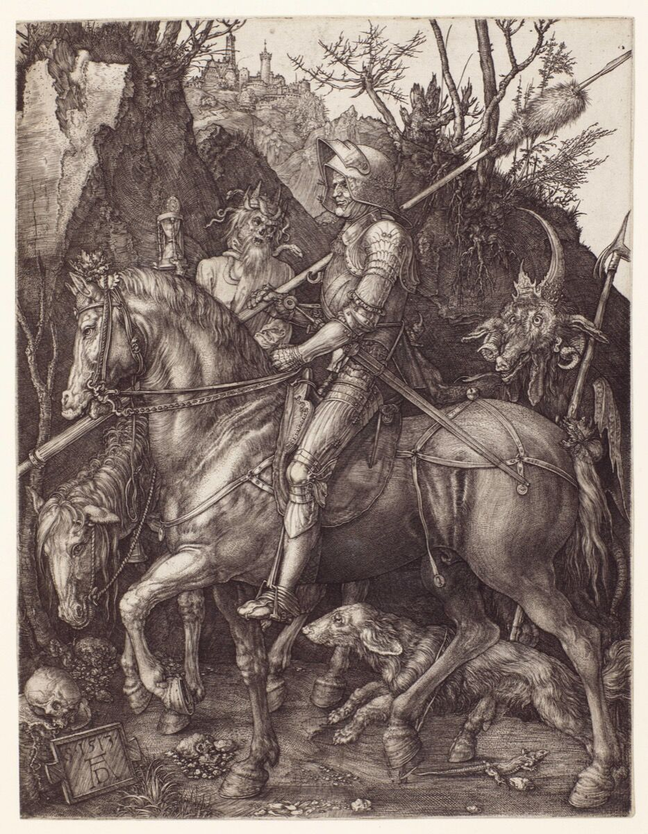 Albrecht Dürer, Knight, death, and the devil, 1513. Courtesy of the Huntington Library, Art Collections, and Botanical Gardens.