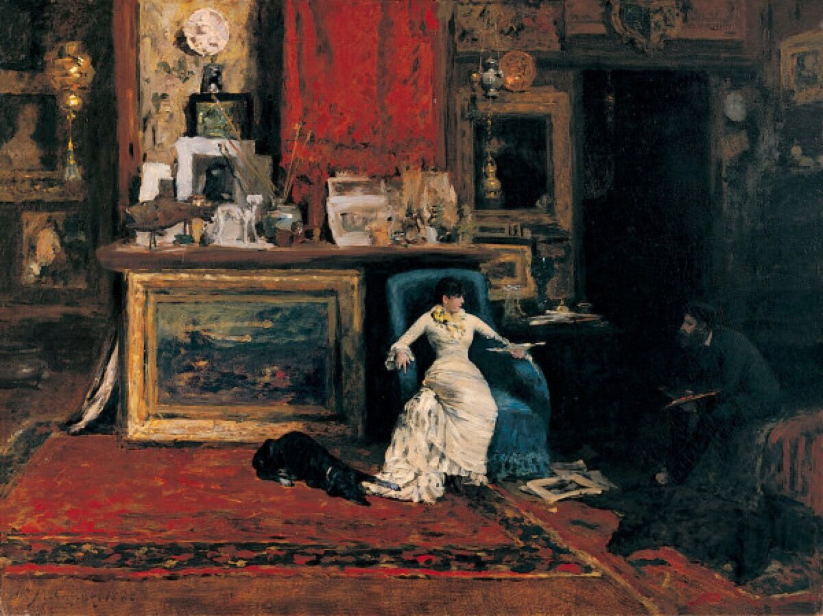 William Merritt Chase, The Tenth Street Studio, 1880. Image via Wikimedia Commons.