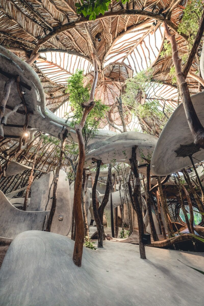 Image of Azulik Uh May in Tulum, Mexico. Courtesy of Enchanting Transformation.