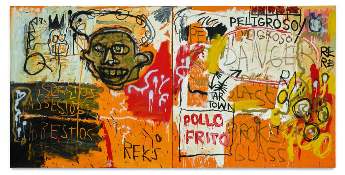 Jean-Michel Basquiat, Untitled (Pollo Frito), 1982. Courtesy of Sotheby's.