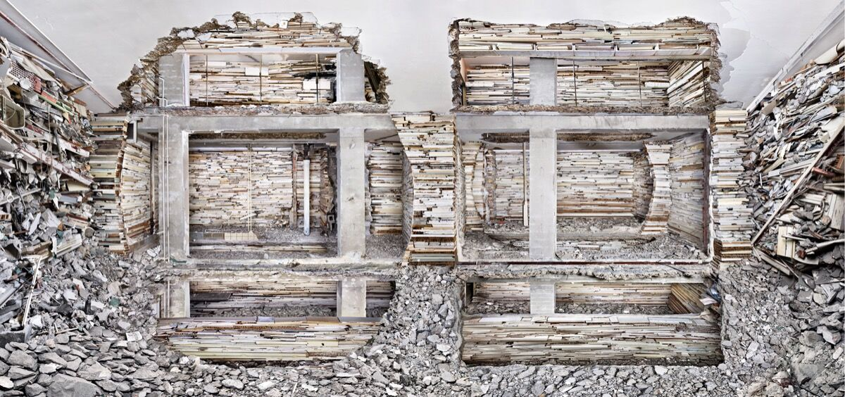 Marjan Teeuwen, Destroyed House Pet Mondriaanstraat 1, 2011. ​© Marjan Teeuwen. Courtesy of Bruce Silverstein Gallery, New York.