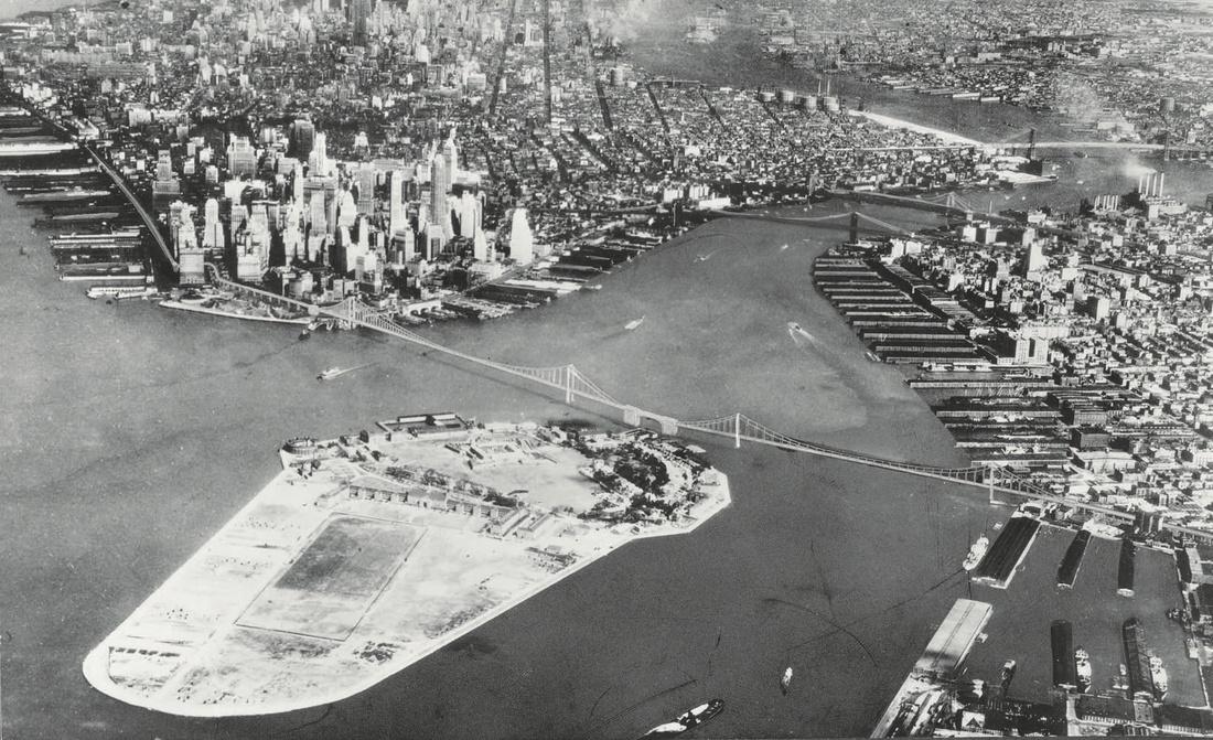 Robert Moses and Othmar Ammann, Brooklyn-Battery Bridge, 1919. Courtesy of ARTBOOK | D.A.P.