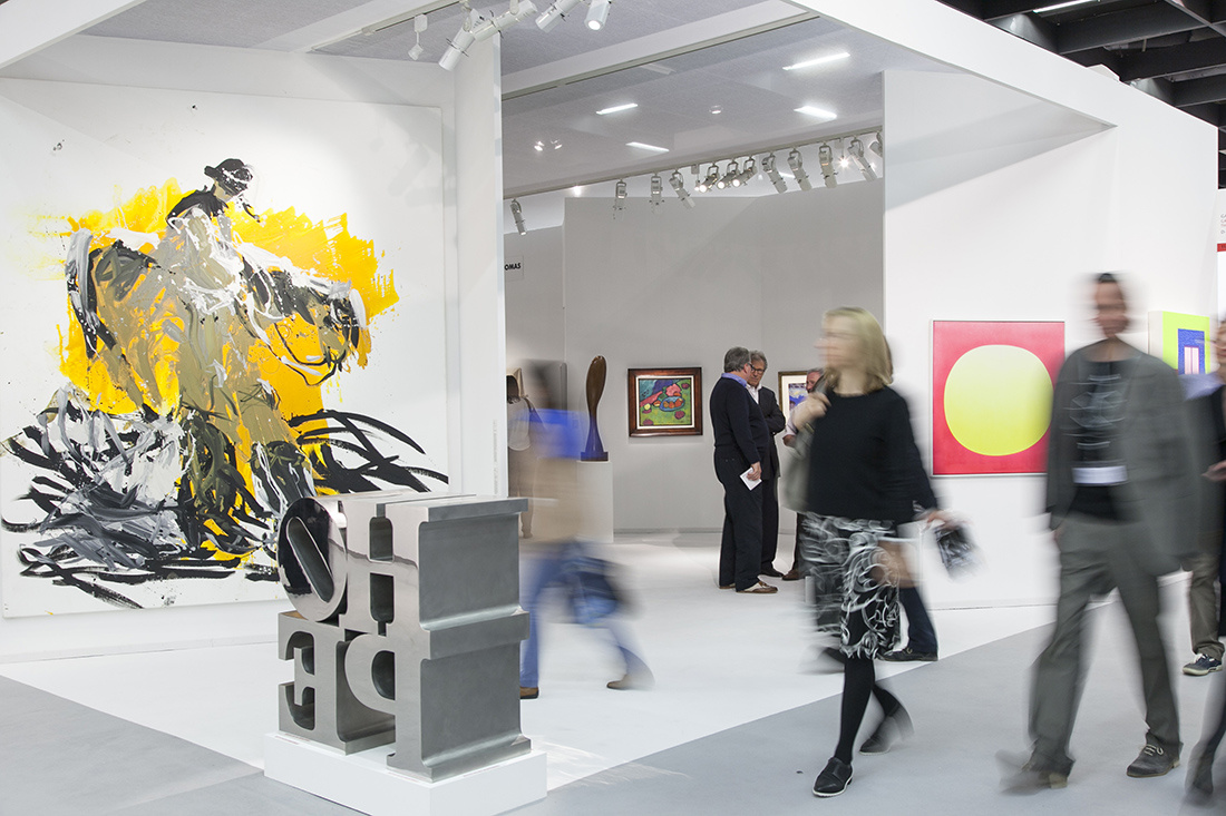 Galerie Thomas's Booth at Art Cologne 2015. Photo: © Koelnmesse.