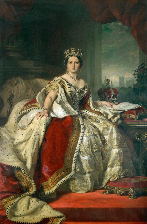 Franz Xaver Winterhalter, Portrait of Queen Victoria, 1859. Image via Wikimedia Commons.