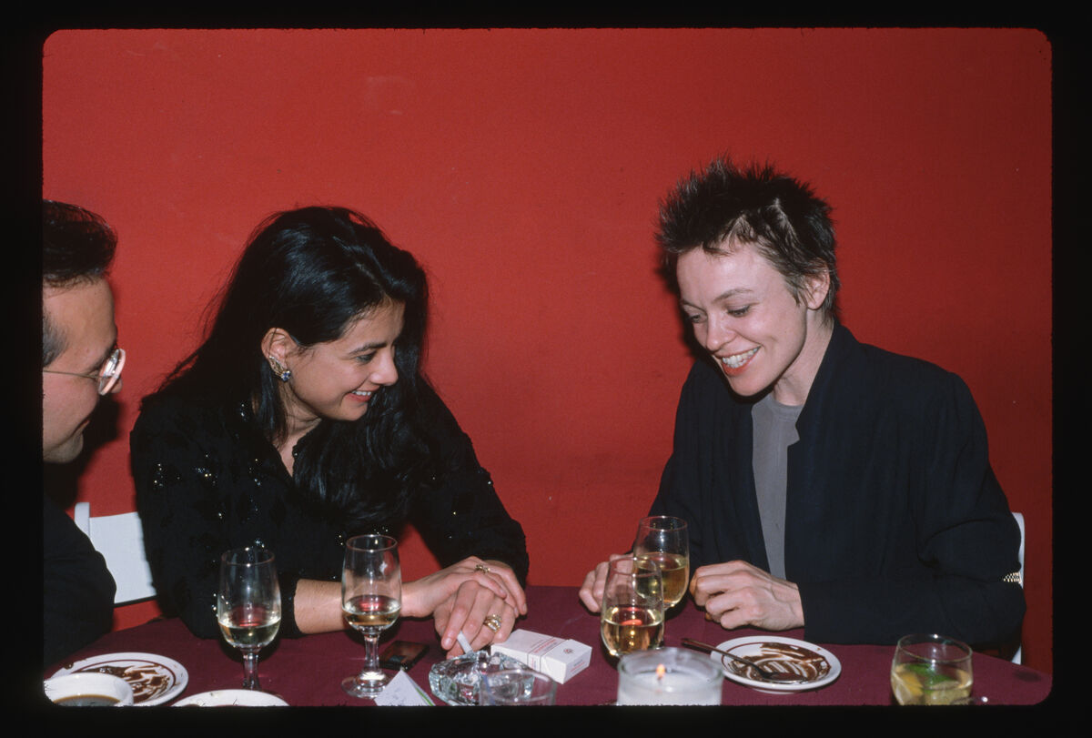 Mary Boone and Laurie Anderson. Photo by Merry Alpern/Corbis/VCG via Getty Images.