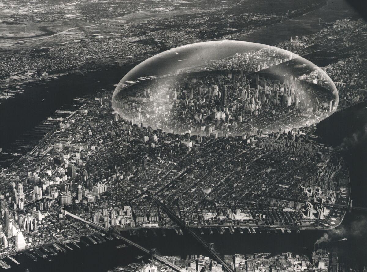R. Buckminster Fuller, Dome Over Manhattan, 1961. Courtesy of ARTBOOK | D.A.P.