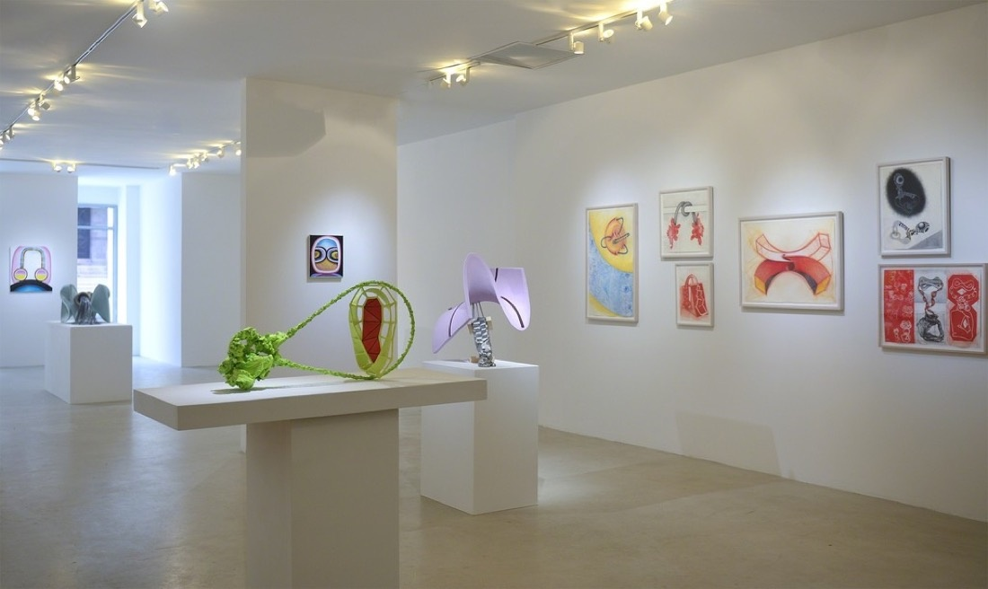 "Installation view of ""Works by John Newman,"" 2015. Image courtesy of FRED.GIAMPIETRO Gallery."