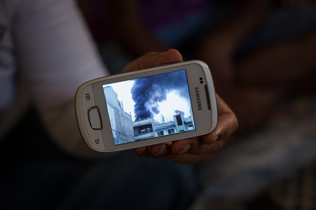 """Liam Maloney, photograph from """"Texting Syria,"""" 2013. Image courtesy of the artist."""