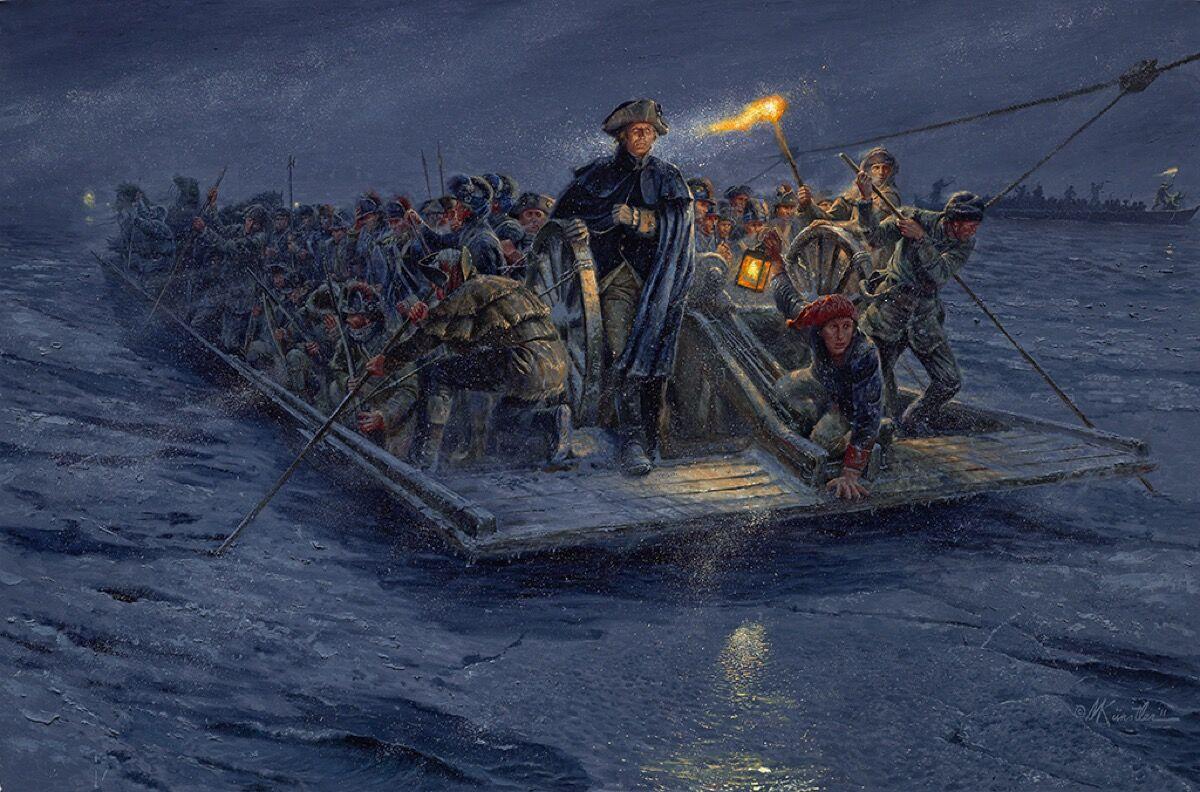 Mort Künstler, Washington's Crossing, 2011. Image courtesy of the artist.
