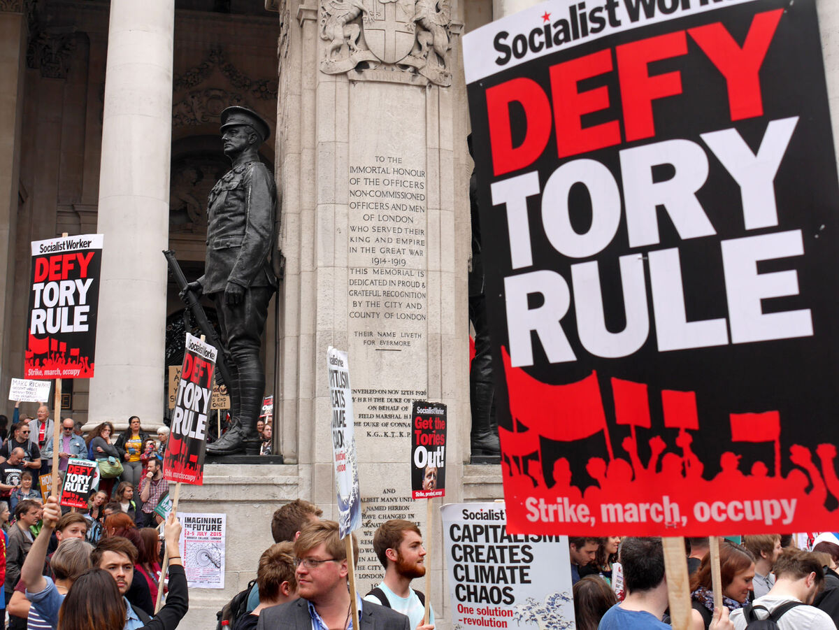 Anti-austerity marches, U.K., June 2015. Courtesy Alan Denney/Flickr/Creative Commons.