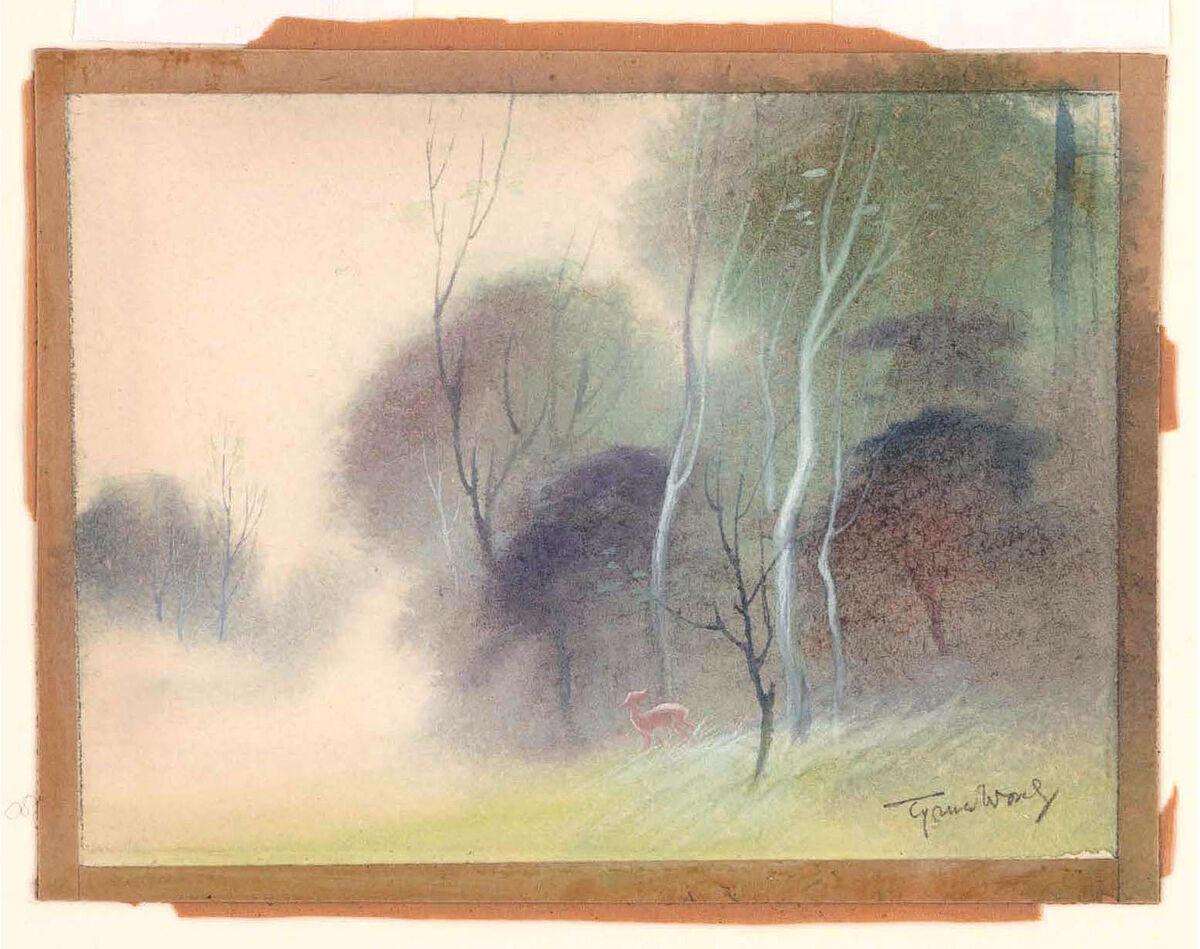 Tyrus Wong, Bambi (visual development), 1942. Courtesy of Tyrus Wong and PBS.