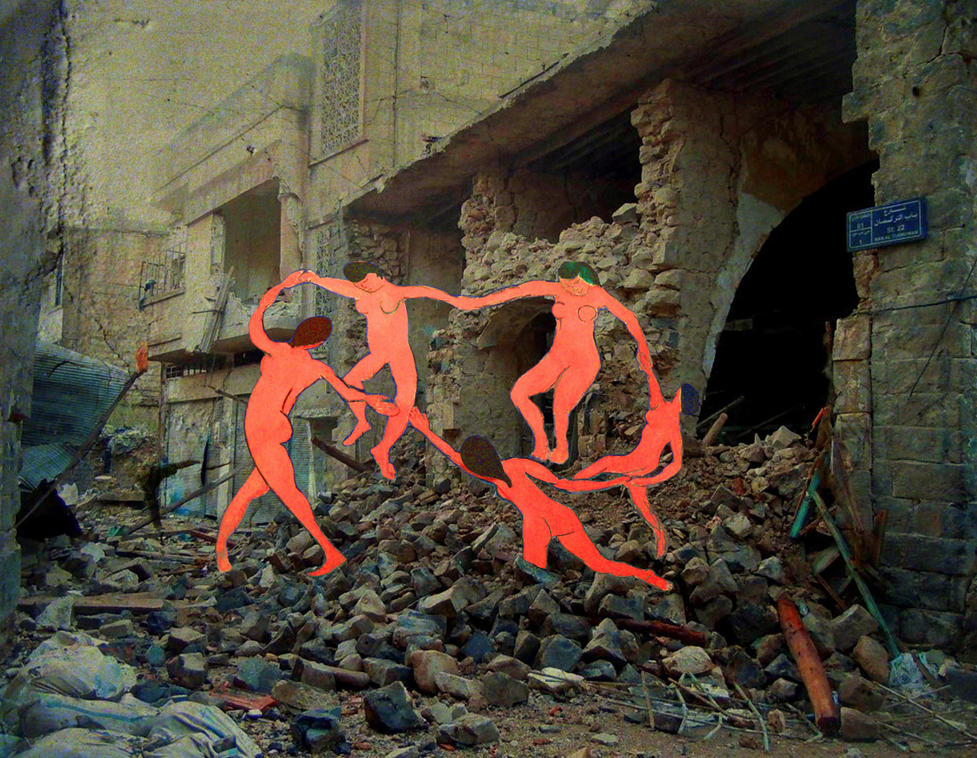Tammam Azzam, Syrian Museum–Matisse's La Danse, 2012. Image courtesy of Ayyam Gallery and the artist.