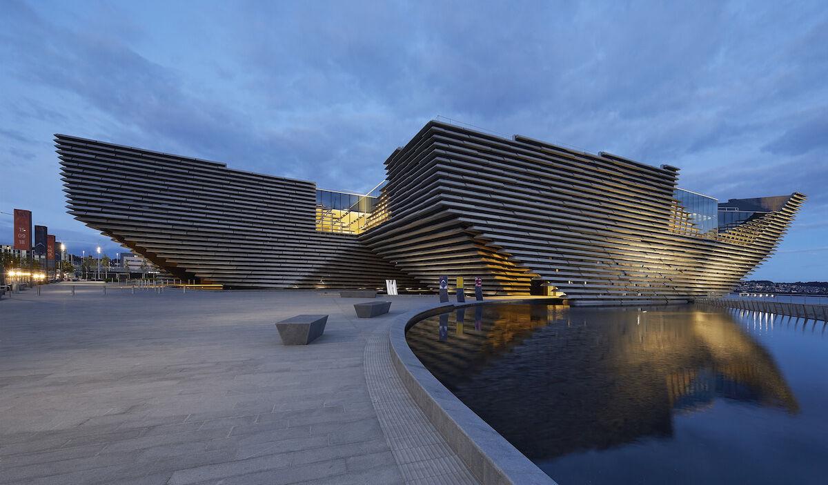 The V&A Dundee, designed by Kengo Kuma. Photo by and © Hufton Crow, courtesy the V&A Dundee.