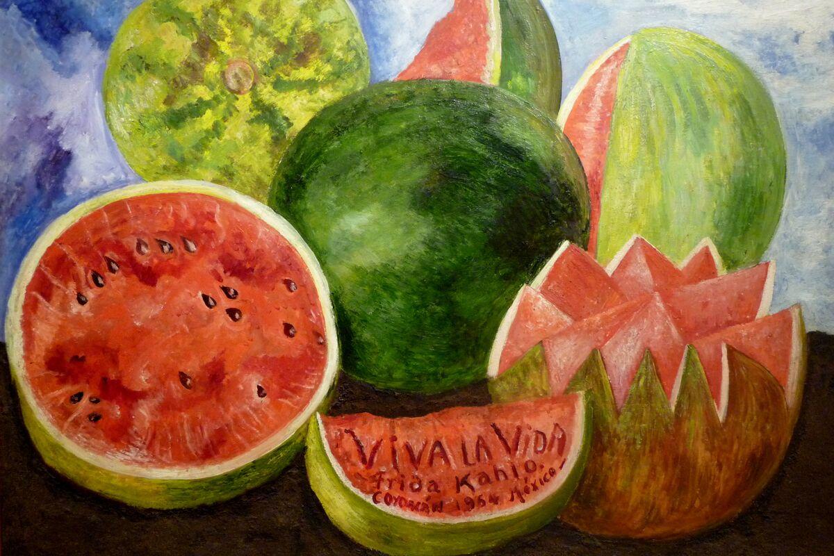 Frida Kahlo, Viva la Vida, Watermelons, 1954. Photo by Jen Wilton, via Flickr.