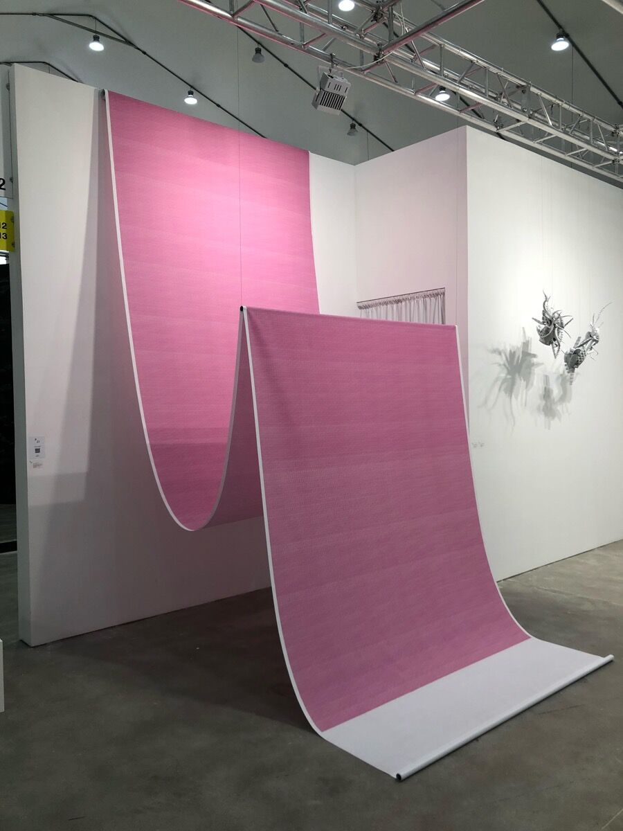 Sun Choi, Magenta Painting, 2012. Courtesy of P21 Gallery.