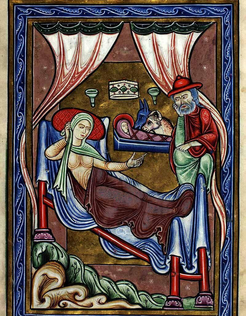 Illumination from Thott 143 2º: The Copenhagen Psalter, 1175-1200.