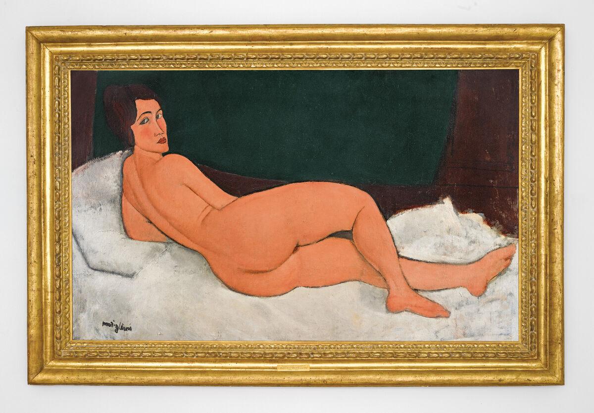 Amedeo Modigliani, Nu couché (sur le côté gauche), 1917. Courtesy of Sotheby's.