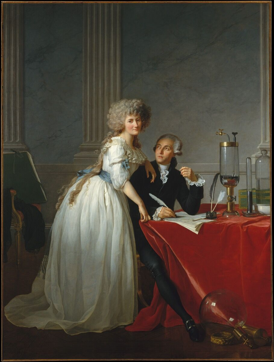 Jacques Louis David, Antoine Laurent Lavoisier and His Wife, 1788. Courtesy of the Met.