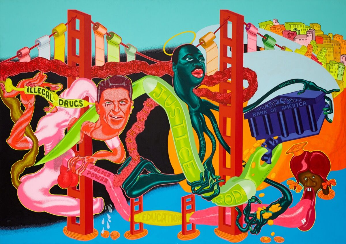 Peter Saul, Government of California, 1969. © Peter Saul. Courtesy of Mary Boone Gallery, New York.