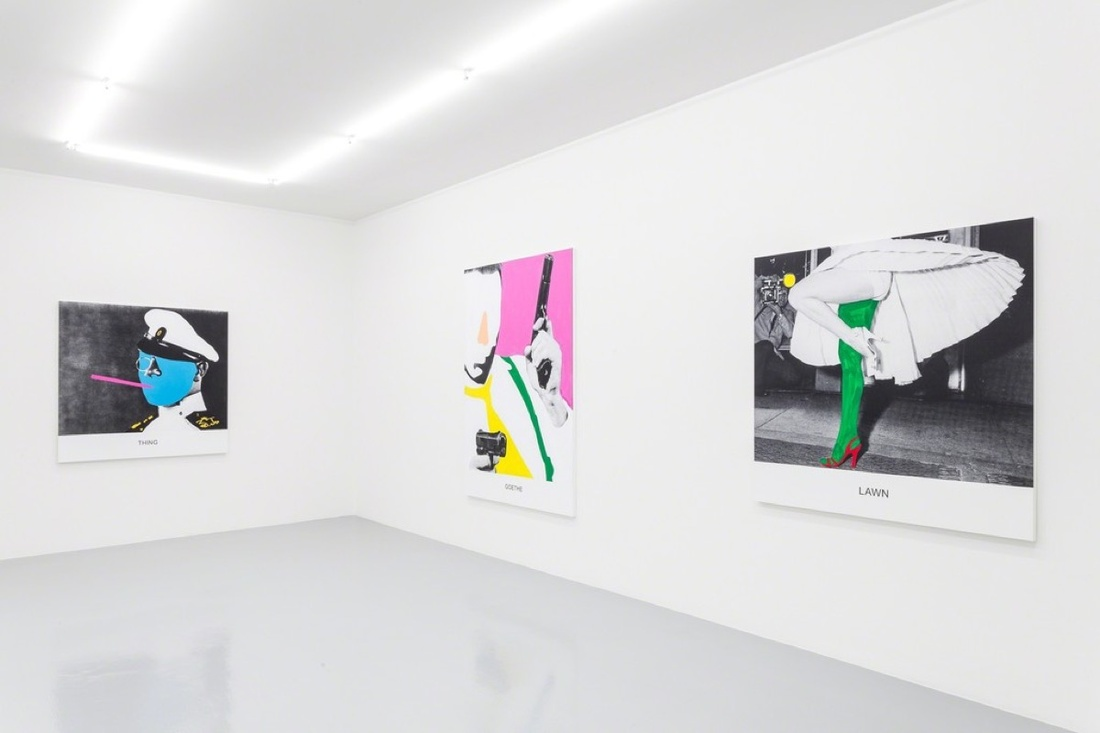 """Installation view of """"John Baldessari—New Works"""" at Mai 36 Galerie. Photo courtesy of the gallery."""