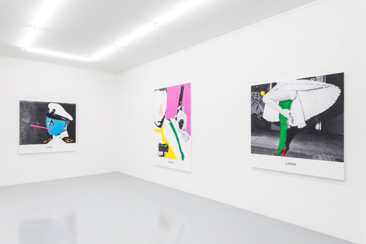 "Installation view of ""John Baldessari—New Works"" at Mai 36 Galerie. Photo courtesy of the gallery."