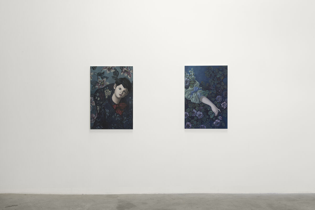 "Installation view of ""The Progress of Love."" Courtesy of Night Gallery."