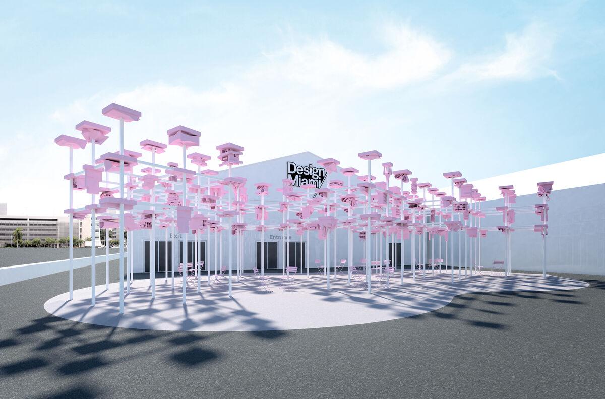 Rendering of UNBUILT: Design Miami/ Harvard GSD Pavilion. Courtesy of Harvard Graduate School of Design.