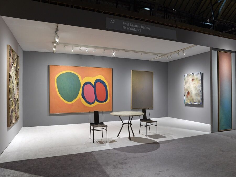 Installation view of Paul Kasmin Gallery's booth at ADAA: The Art Show, 2016. Courtesy of Paul Kasmin Gallery.