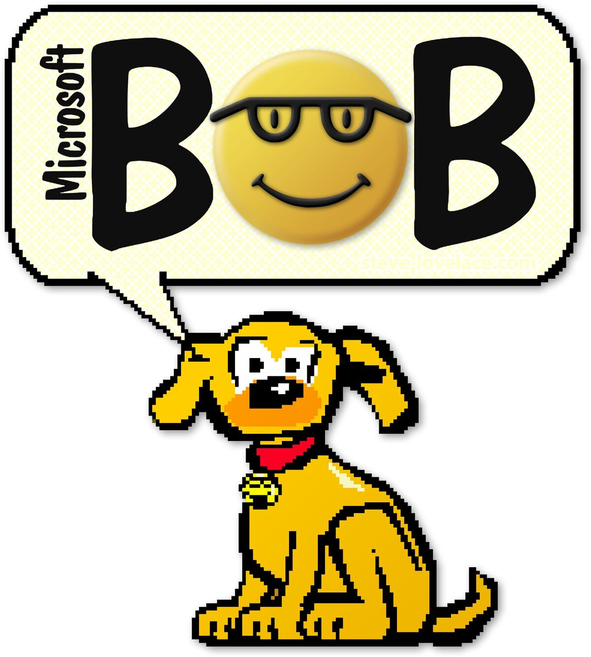 "Rover from ""Microsoft Bob,"" via Steve Lovelace."