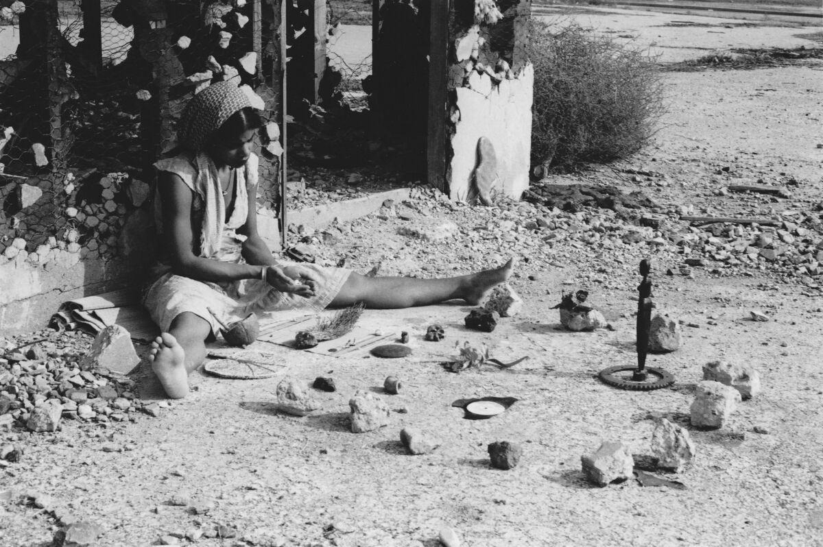 Production still from Barbara McCullough, Water Ritual #1: An Urban Rite of Purification, 1979. Courtesy of the artist.