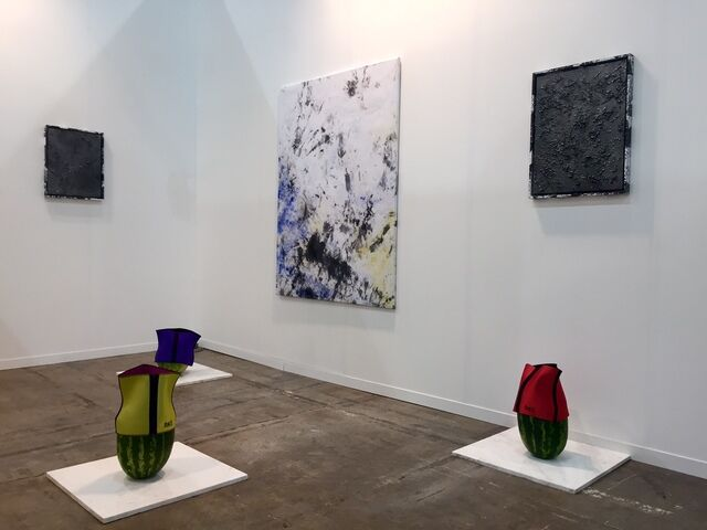 Installation image of the DUVE Berlin booth at Zona MACO courtesy of the gallery.