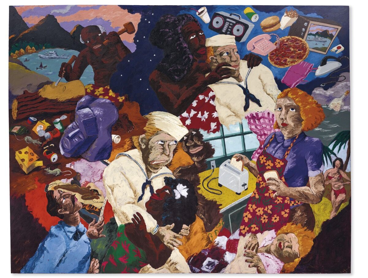 Robert Colescott, Cultural Exchange, 1987. Courtesy of Christie's.