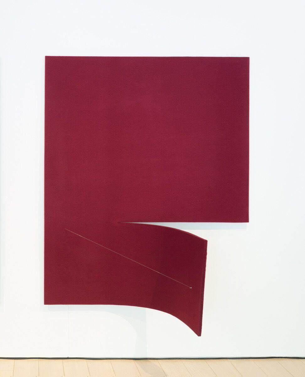 Naama Tsabar, Work on Felt (Variation 17) Burgundy, 2017. Courtesy of the artist and Kasmin gallery.
