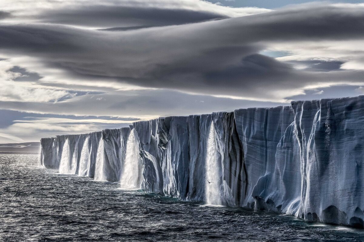Paul Nicklen, Ice Waterfall. Courtesy of Paul Nicklen Gallery.