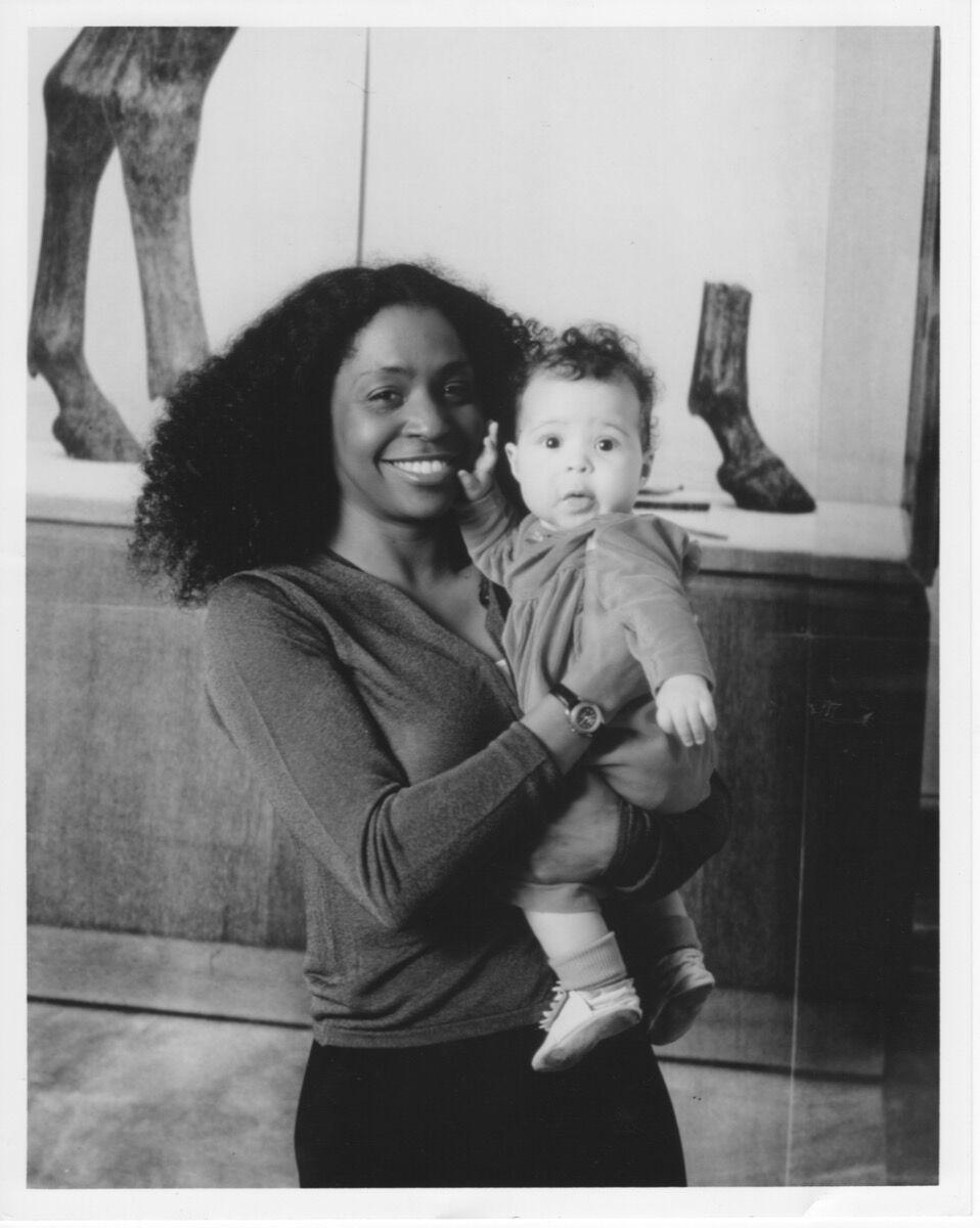 Portrait of Zora Casebere with her mother Lorna Simpson at Walker Art Center, Minneapolis, April 1999. Photo by Glenn Halvorson. Courtesy of Zora Casebere.
