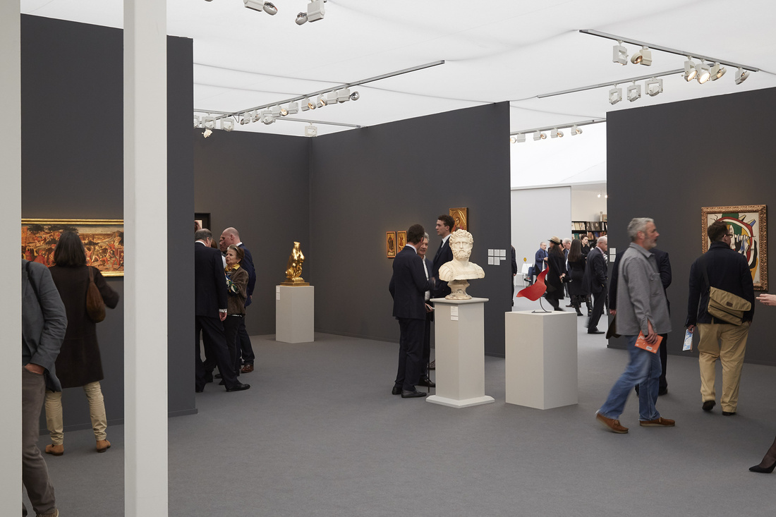Hauser & Wirth and Moretti Fine Art's booth at Frieze Masters, 2015. Photo by Benjamin Westoby for Artsy.