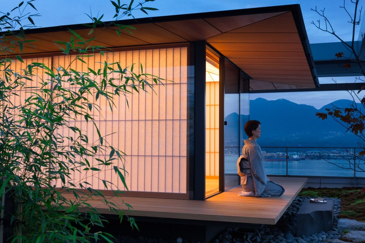 The Teahouse by Kengo Kuma. Photo by Ema Peter. Courtesy of Killeen Communication Strategies.