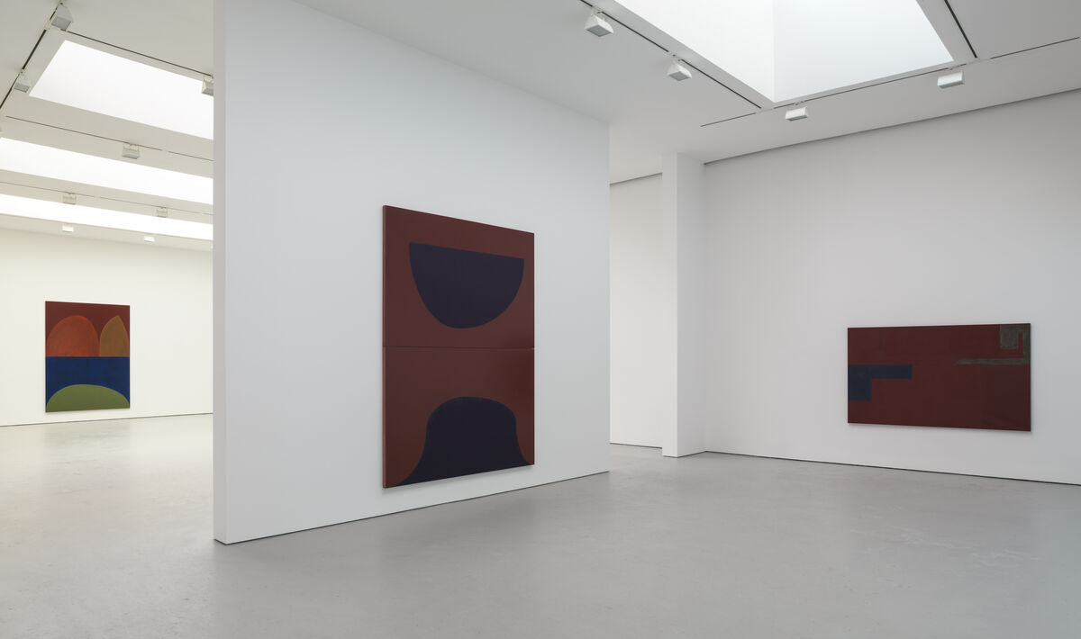 "Installation view from the 2015 solo exhibition ""oil paintings and sun"" at David Zwirner, New York. Courtesy the artist and David Zwirner, New York/London."