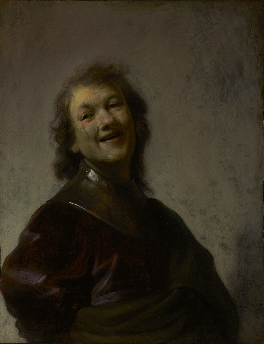 Rembrandt van Rijn, Rembrandt Laughing, 1628. Courtesy of the Getty Museum.