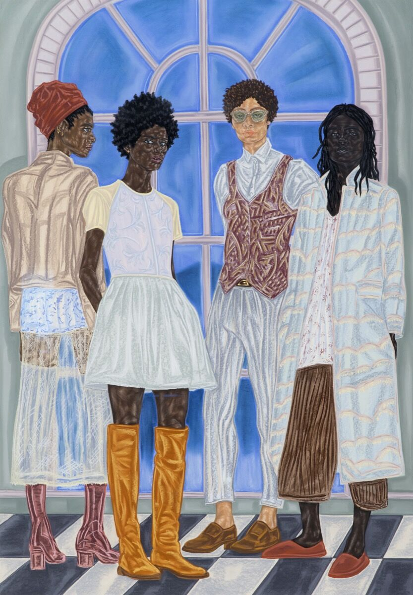 Toyin Ojih Odutola, Representatives of State, 2016-17. ©Toyin Ojih Odutola. Courtesy of the artist and Jack Shainman Gallery, New York.